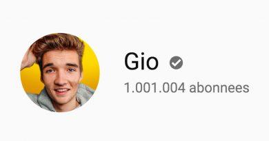 Gio behaalt 1 miljoen abonnees