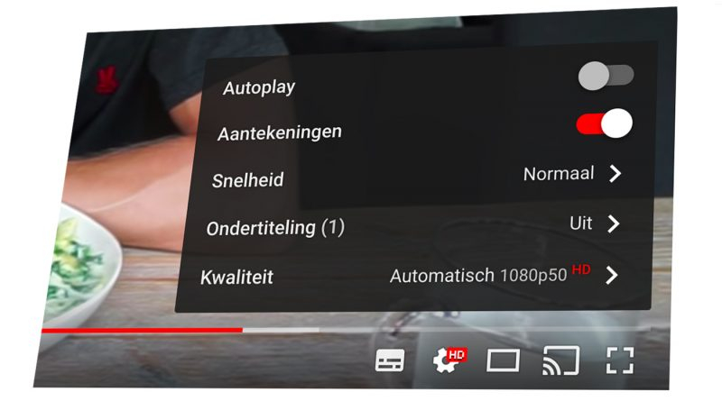 Ondertiteling aanzetten op YouTube